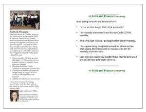 F&F Testimonies