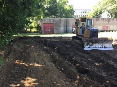 """Grading out the """"hill"""" that no longer exists. :-)"""