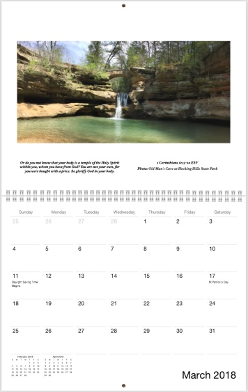 Sample Full Page Calendar